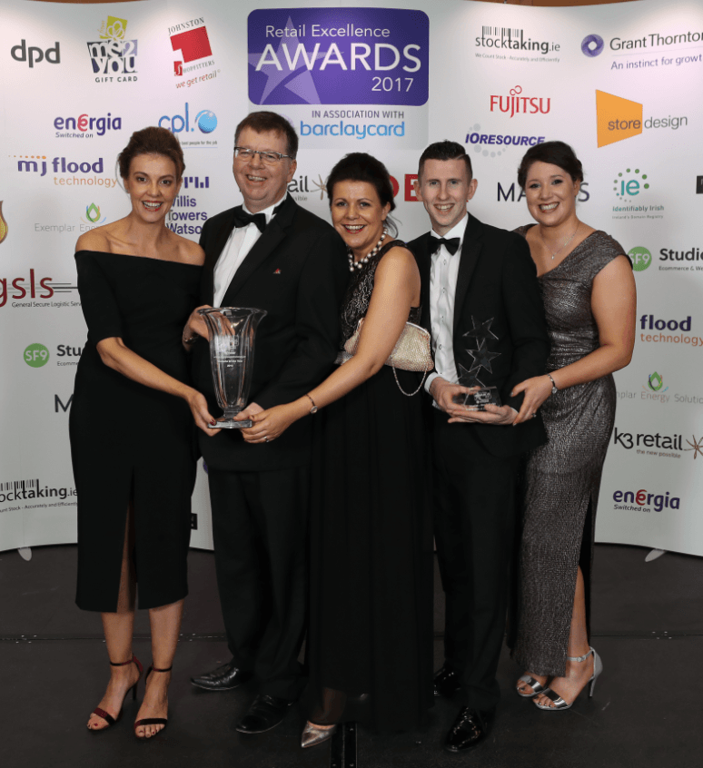 Dairygold's Co-Op Superstores wins 'Website of the Year 2018' at Retail Excellence Awards