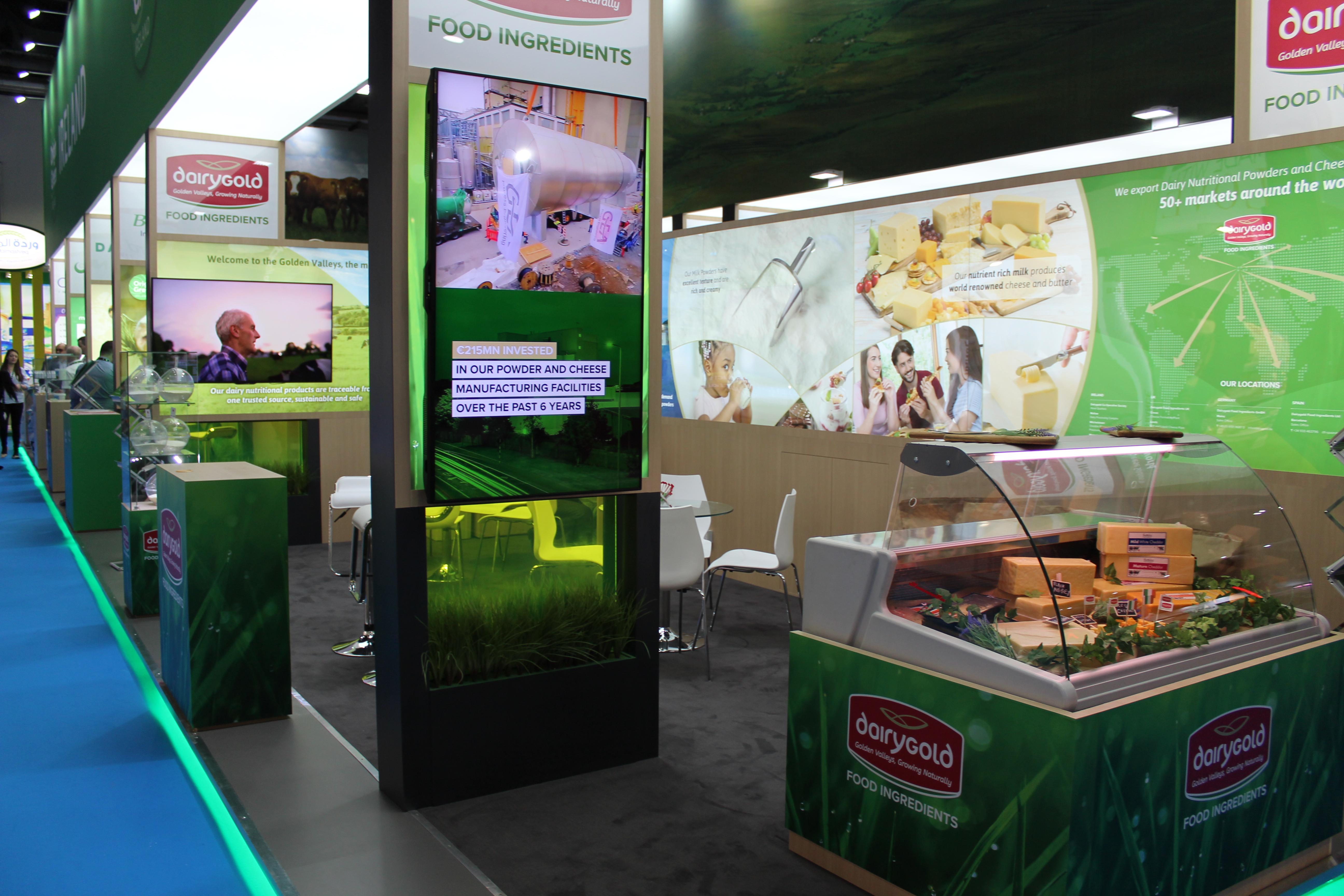 Dairygold exhibits at Gulfood 2018